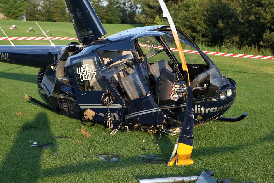 Hubschrauber abgestürzt