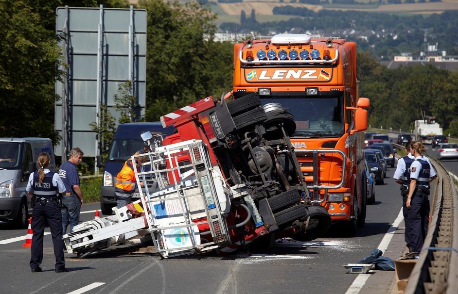 Unfall B9 Gestern