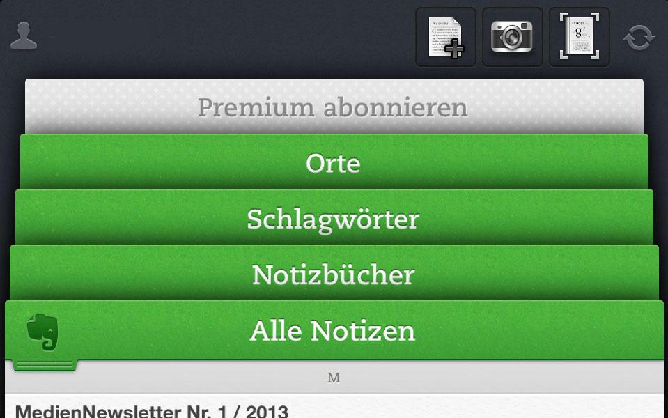 App Des Monats Januar 2013 Evernote Alle Notizen überall