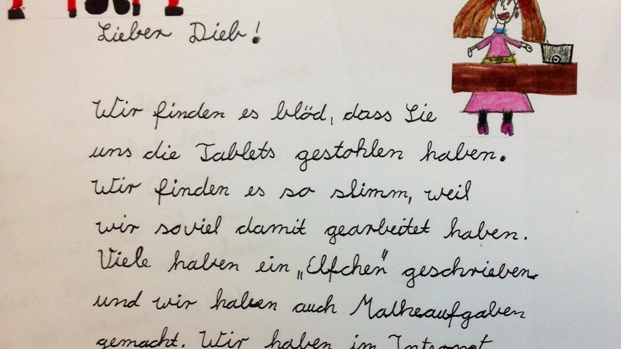 Persönliche Briefe Schreiben Grundschule : Gestohlene tablet pcs grundschüler schreiben briefe an
