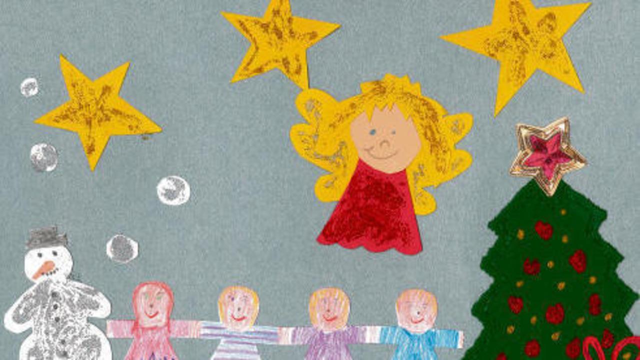 kinder malt uns weihnachtsbilder bilder rhein zeitung. Black Bedroom Furniture Sets. Home Design Ideas
