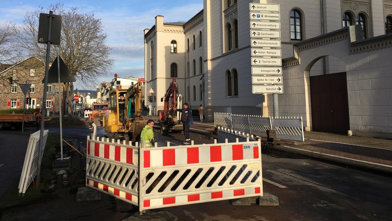 Koblenz Wasserrohrbruch