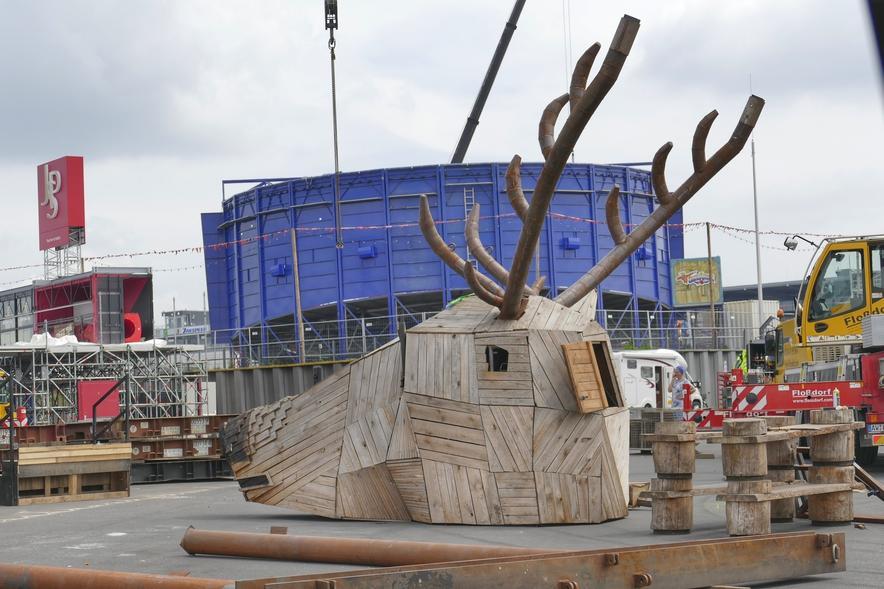 Fotos: Rock am Ring 2018 wird aufgebaut - Bilder - Rhein