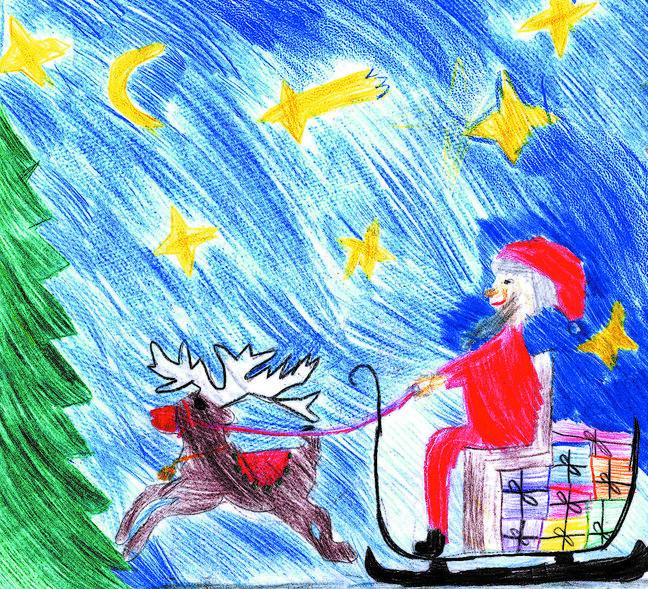 Originelle Weihnachtsbilder.Kinder Malt Uns Weihnachtsbilder Westerwälder Zeitung Rhein
