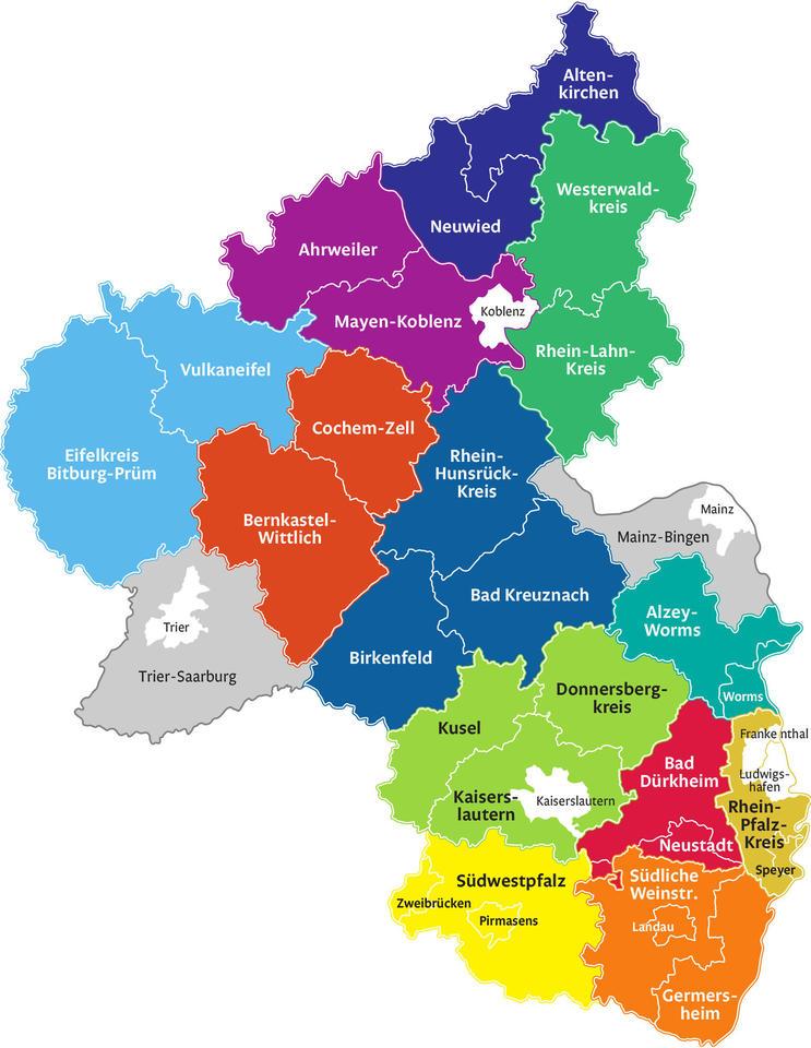 Rheinland-Pfalz Karte