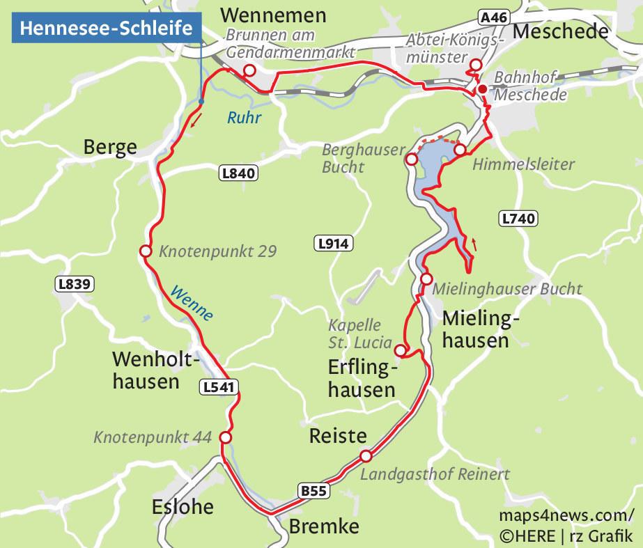 Sauerland Karte Berge.Auf Dem Sattel Durch Das Sauerland Rheinland Pfalz Rhein