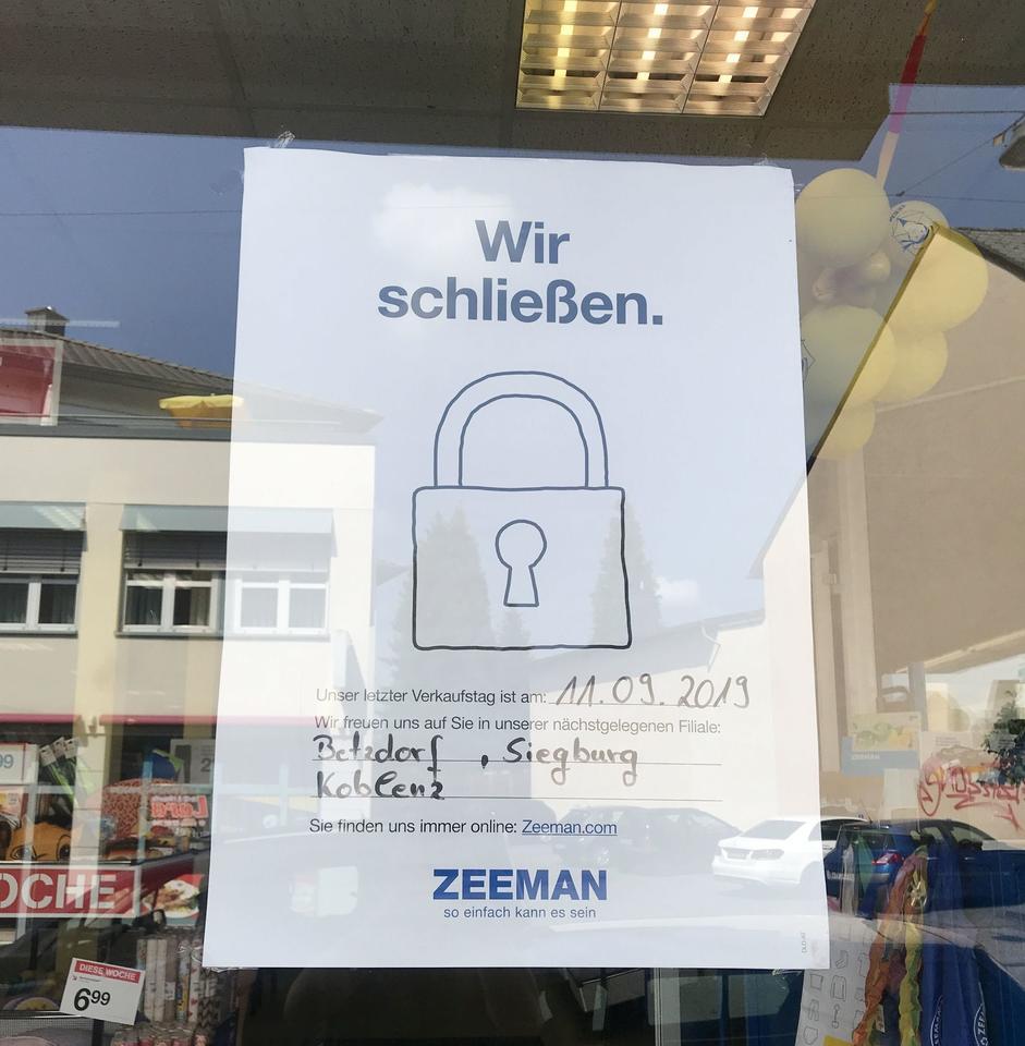 Weiterer Leerstand: Zeeman schleßt Filiale in Altenkirchen