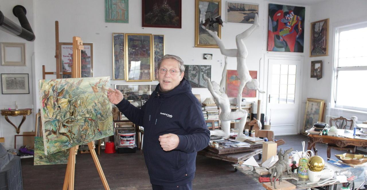 Aus der Ukraine nach Freusburg geflüchtet: Große Werkschau des Künstlers Jevgenij Kulikov