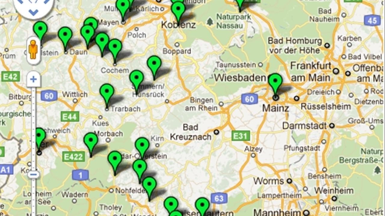 bersichtskarte bundeswehrstandorte in rheinland pfalz region rhein zeitung. Black Bedroom Furniture Sets. Home Design Ideas